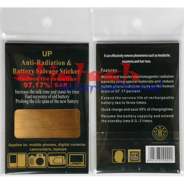 by DHL or EMS 200 pieces Anti Radiation Sticker For cellphone Saver Battery Energy Sticker