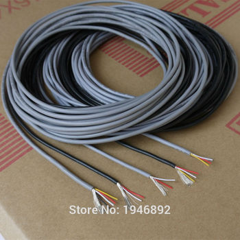 1 Meter UL 2547 28/26/24 AWG Multi-core control cable copper wire shielded audio cable headphone cable signal wire cable image