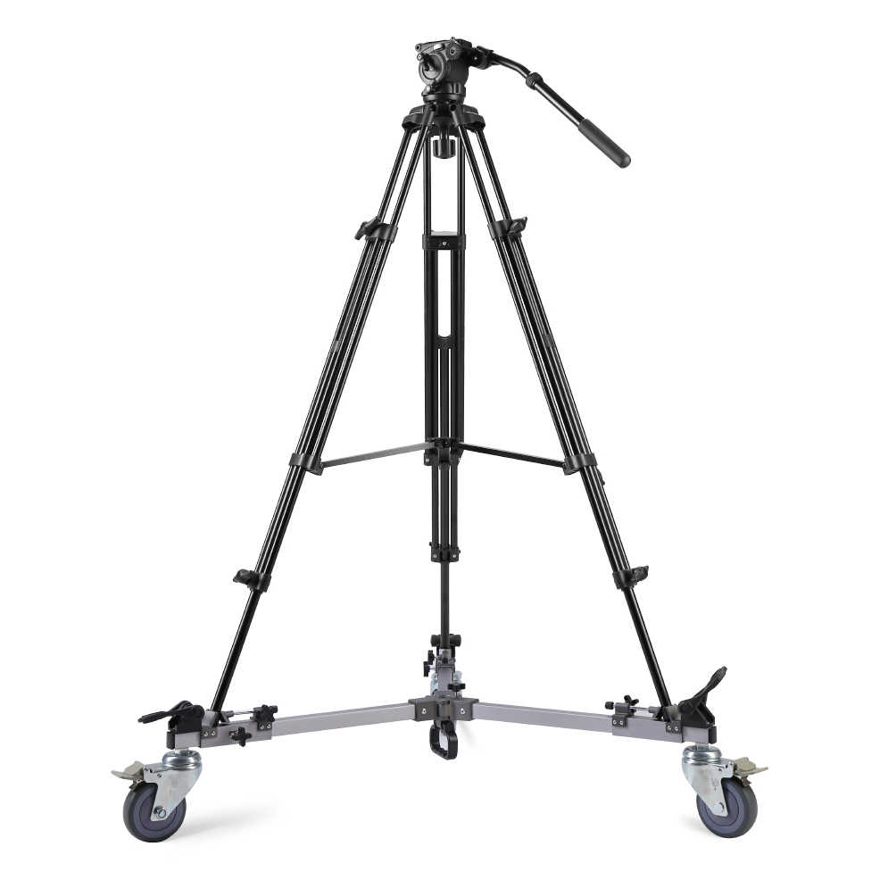 を微風 WF-9912 3 台座プーリーローラー三脚の脚カメラ写真撮影キャスター三脚の脚ホイールスライドベアリング