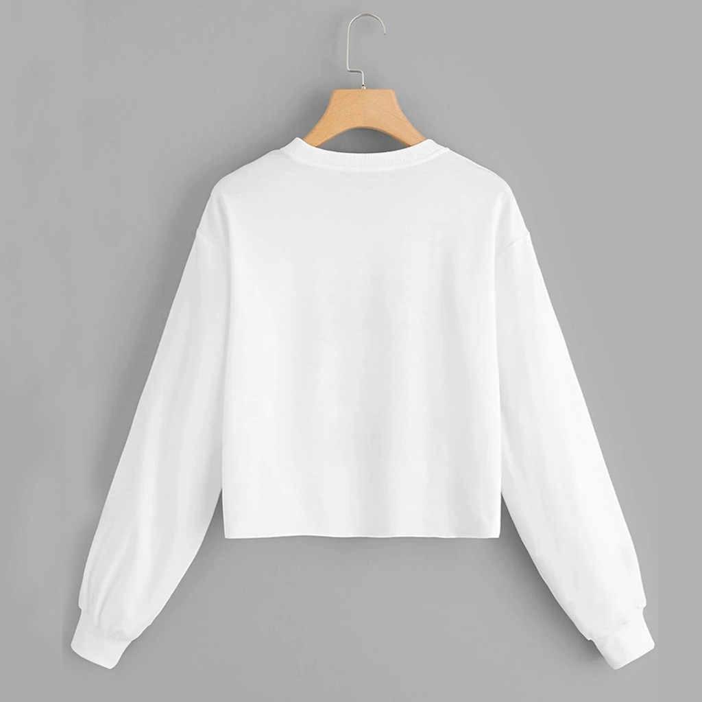 Kpop Kemeja Wanita Harajuku Lengan Panjang Sweatshirt Corak Pullover Streetwear Hip Hop Atasan Moletom Feminino Inverno Толстовка