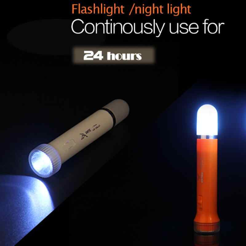 YAGE LED el feneri gece lambası çift Lanmp 2 modları Torch Literna Laterna 2000mAh pil içinde Lampe Torche mum ışıkları