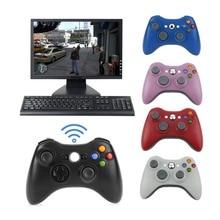 NOVA 2.4G Sem Fio Gamepad Joystick Jogo Controlador Joystick Com Pc Receptor Remoto Para Microsoft Para Xbox Console 360