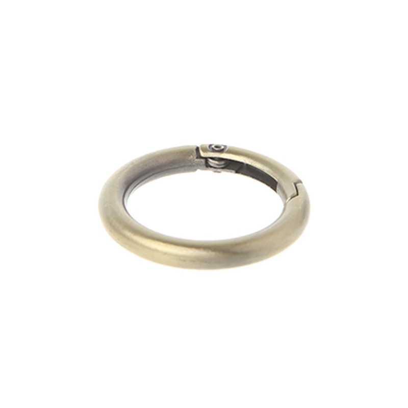 THINKTHENDO металлический новый маленький круглый круг пружинная защелка для DIY крюк для ключей сумка сумочка с застежкой кошелек
