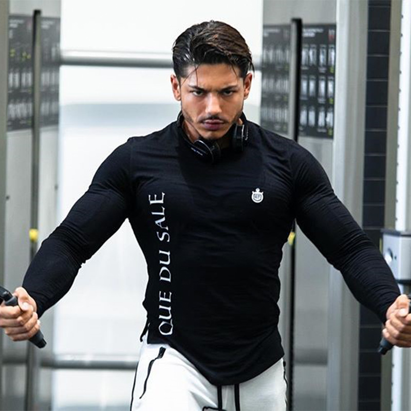 Dry Fit Running Shirt Long Sleeve Compression Shirt Rashguard Sport Shirt Men Gym TShirt Fitness Tight Rashgard Fitness Tops Tee