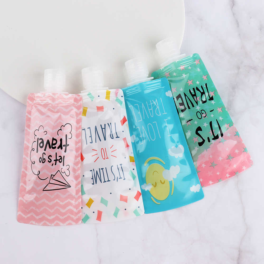 100ml Liquid Dispensing Bag Shampoo Storage Bag Candy Color Lotion Packing Bottles Squeeze Travel Makeup Container Portable