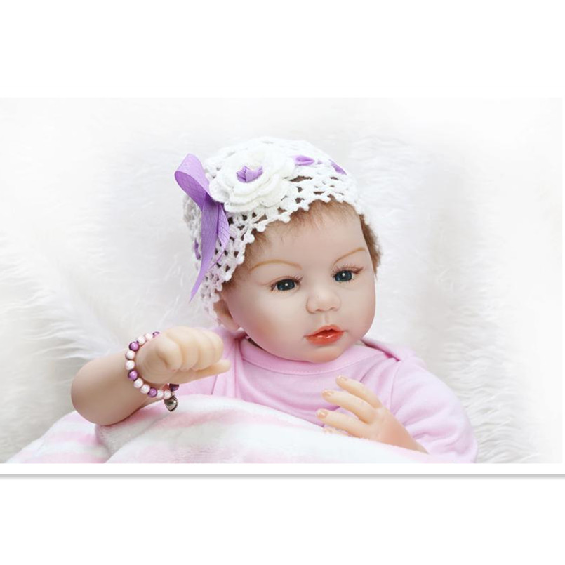 20 Inch Realistic Reborn Doll Silicone Reborn Baby Dolls with Clothes and Headwear,Lifelike Baby Newborn Dolls for Children Girl hot newborn doll lifelike baby reborn doll with clothes fashion 37 cm cute silicone reborn dolls toys for children