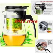 Heißer verkauf 500 ml Hitzebeständigem Glas Teekanne Blume Tee Puer wasserkocher Kaffee Teekanne Komfortable Büro Teaset 1 stücke, kung fu set.