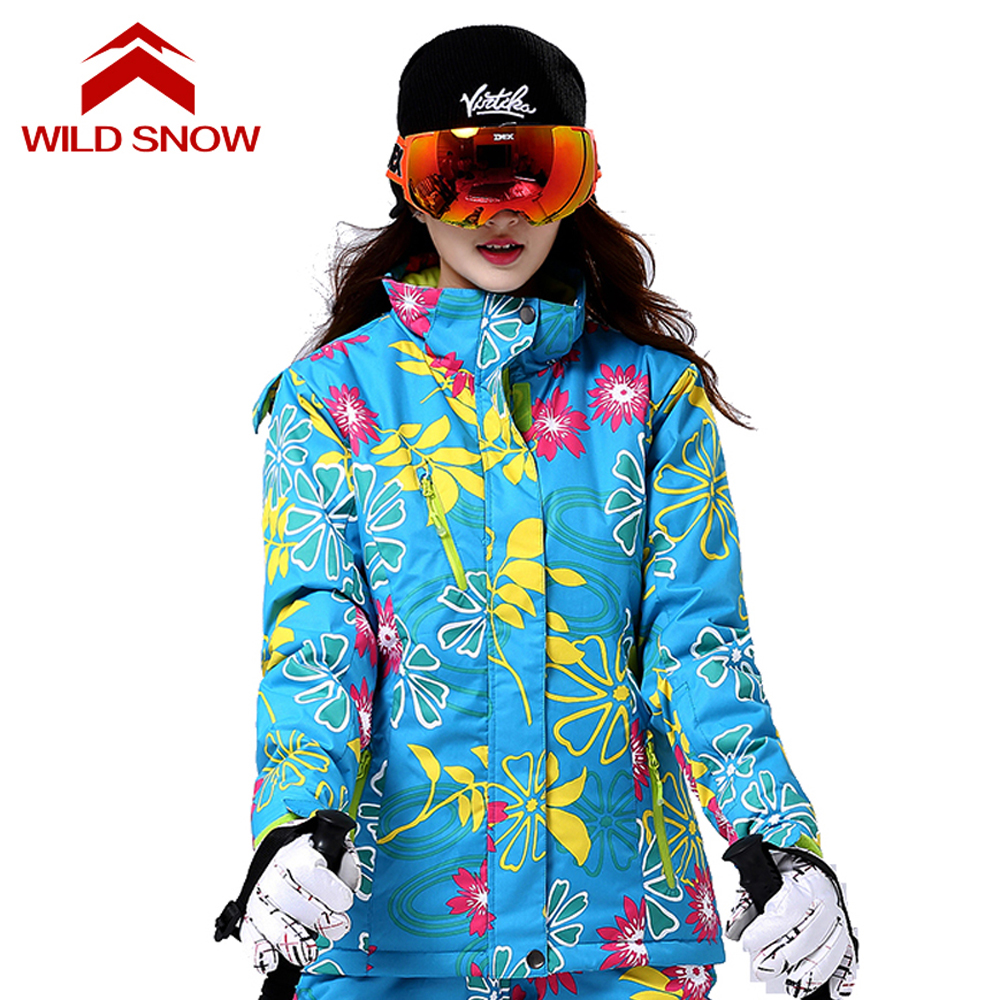 2017 WildSnow Ski Jacket Women Skiing Jackets Female Snowboard Coat Winter Clothing Snow Wear Snowing Waterproof Jacket PYJ511