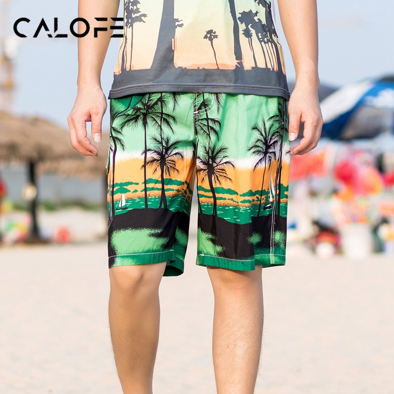 CALOFE 2018 Hot Beach Swimwear Men Swim   Shorts     Board     Shorts   Swimming Trunks Bermuda Surf   Short   Sport Swimsuit Male Plus Size 6XL