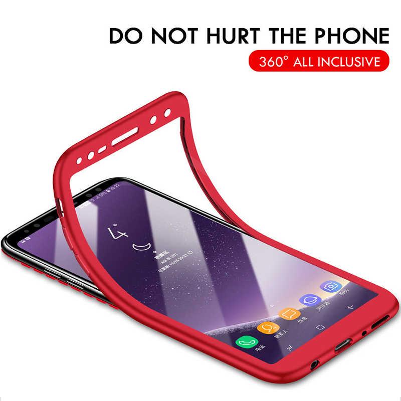 Lüks 360 Derece Tam Kapak Telefon Samsung kılıfı Galaxy S9 S8 Artı Darbeye Dayanıklı Kapak Samsung Not 8 Için 9 S7 Kenar s9 Kılıfı