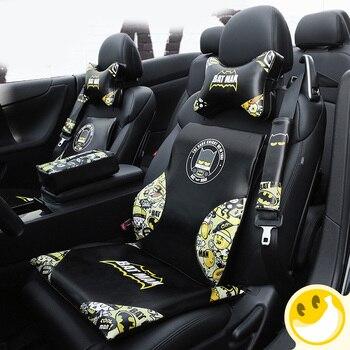 Защитный чехол для автомобильного сиденья Marvel, чехол-накладка на плечо для автомобильных аксессуаров, чехол для подушки для автомобиля