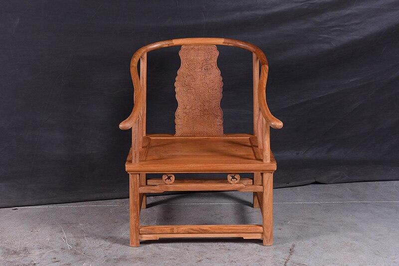 1+ 3 сиденья 6 шт. тройной набор стульев китай Королевский палисандр мебель гостиная твердой древесины диван-кровать костюм красный из сандалового дерева чайная столик - Цвет: Chair