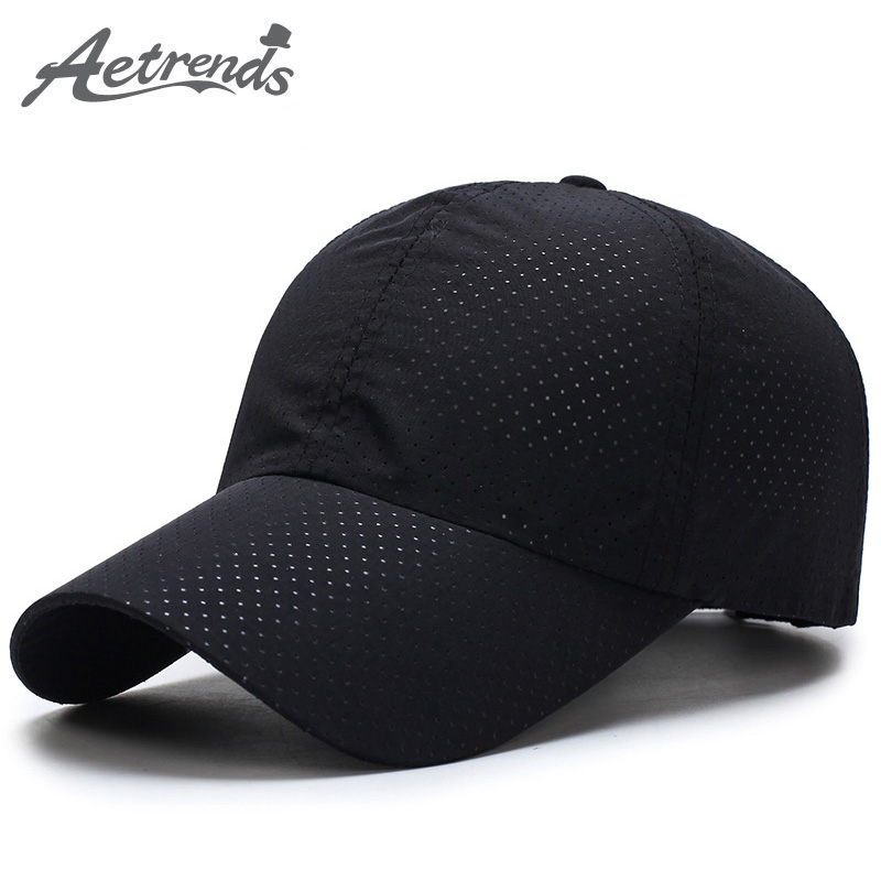 [AETRENDS] Men Women Summer Snapback Quick Dry Mesh   Baseball     Cap   Sun Hat Bone Breathable Trucker Hats Z-5109