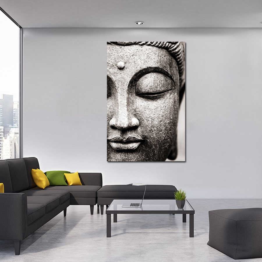 1 Piece Printed canvas Painting buddha picture for home decor print poster wall art WD-1834