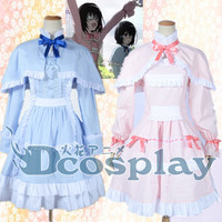 Another Mei Misaki Cos Anime Party Cosplay Costume Uniform Cloak Dress Clothing