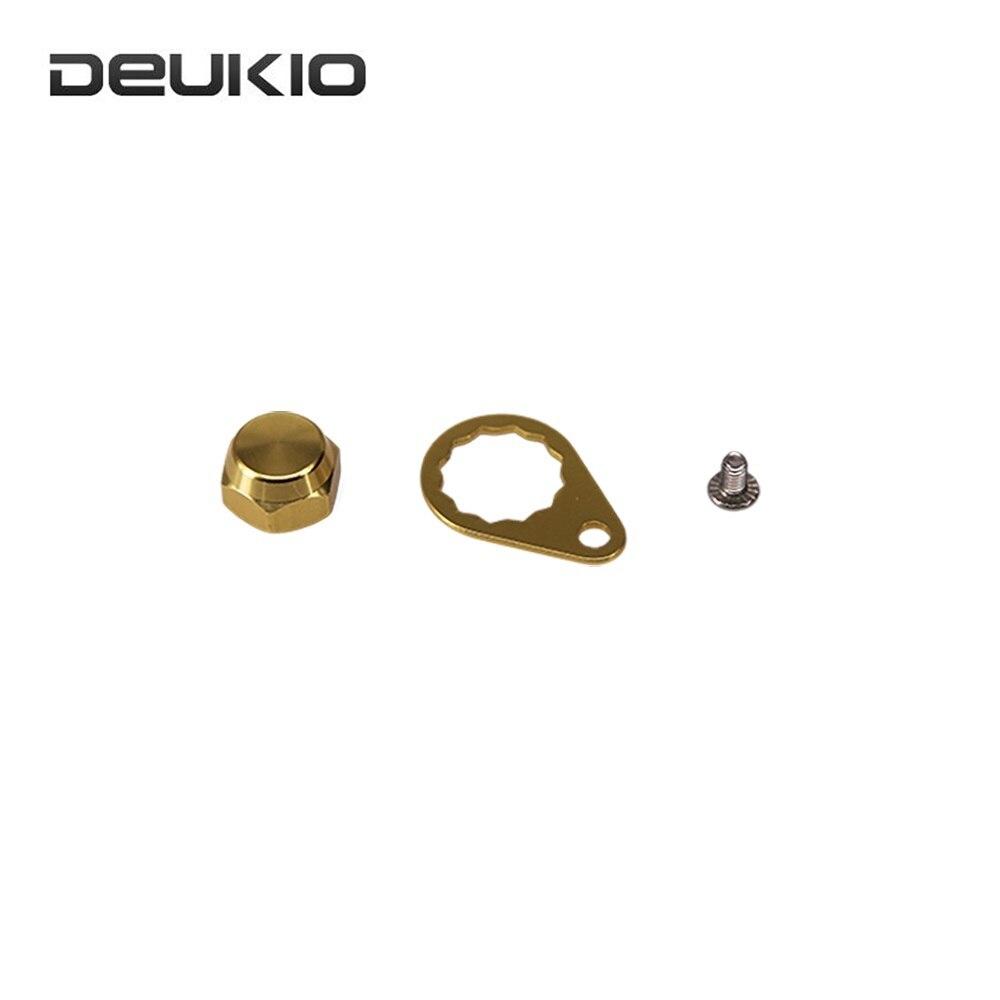 DEUKIO Fishing Reel Handle Accessories Set Modified Water Drop Wheel DIY Refit Lock Nut Screw Cap Set Pesca Fishing Repair Tools