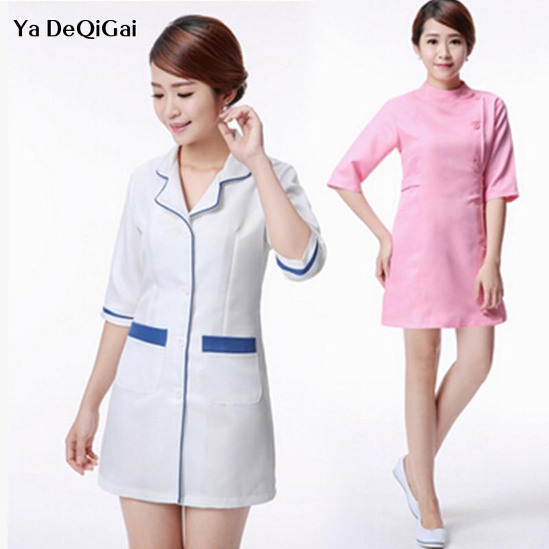 Beauty Salon Uniforms Nurse Uniform Beautician Overalls Medical Clothing Dress Lab Coat Supplies Medical Dental Clinic Uniforms