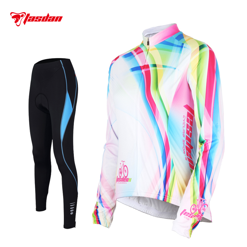 Tasdan Women Cycling Jersey Set Long Sleeve Winte Cycling Sports Suit 3D Gel Pad Ladies Cycling Jerseys Bike Bicycle Wear free shipping women s cycling jerseys female bike jersey high quality summer bicycle racing clothing short sleeve sports wear