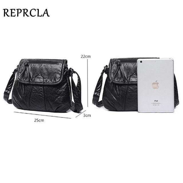 REPRCLA Brand Designer Women Messenger Bags Crossbody Soft PU Leather Shoulder Bag High Quality Fashion Women Bags Handbags 4