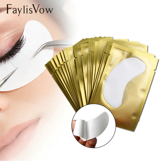 100 Pasang Bantal untuk Bulu Mata Ekstensi Mata Kertas Patch untuk Bulu Mata Lint Gratis Bangunan Grafting Bulu Mata Bantalan Mata Tips Makeup