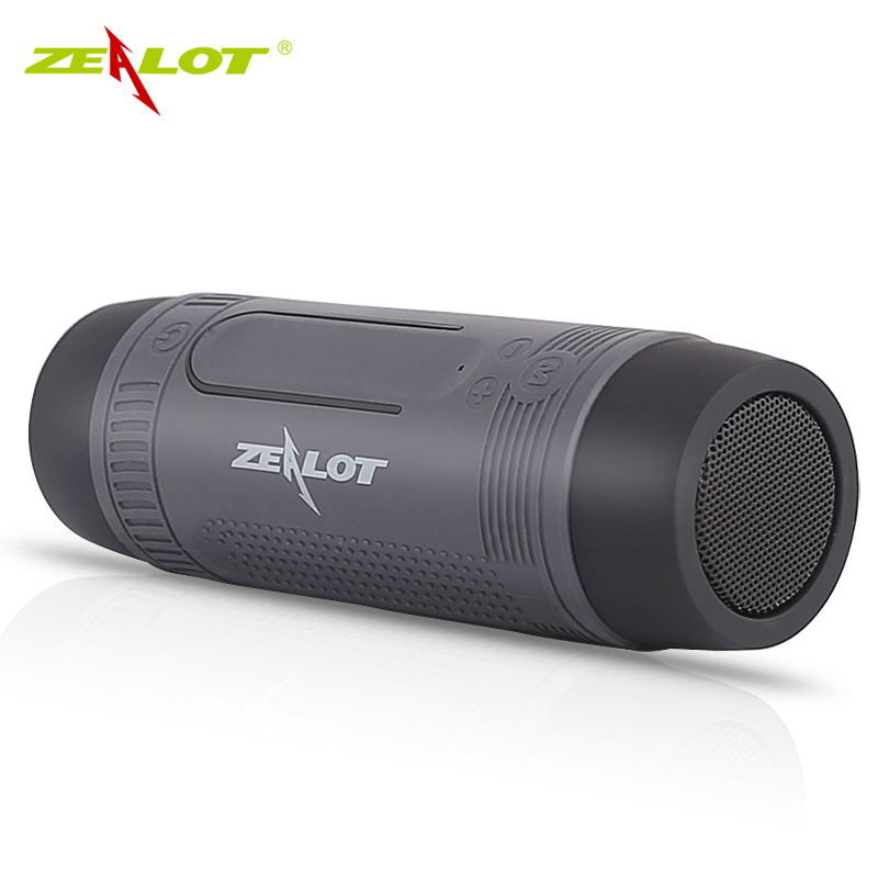 Zealot S1 Bluetooth Speaker Outdoor Bicycle Portable Subwoofer Bass wireless Speakers Power Bank LED light Bike Mount Carabiner new zealot s6 waterproof portable wireless bluetooth speakers power bank built in 5200mah battery dual drivers subwoofer aux