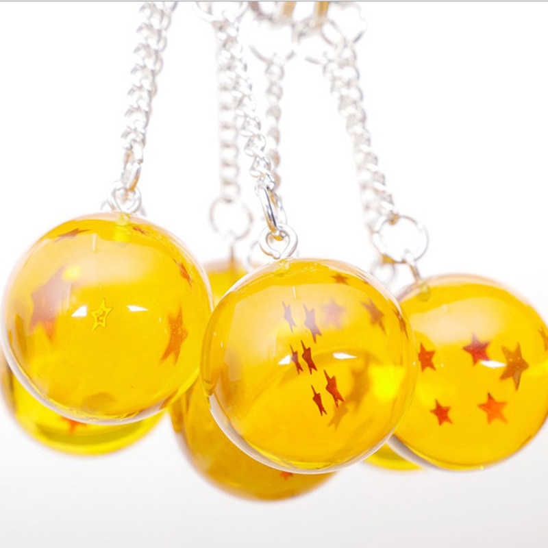 2,7 см Dragon ball Z Crystal 7 воздушный шарик с рисунком звезд брелок Goku Dragon ball Экшн фигурки игрушки автомобильные брелки для ключей кольцо инструмент для укладки подарки