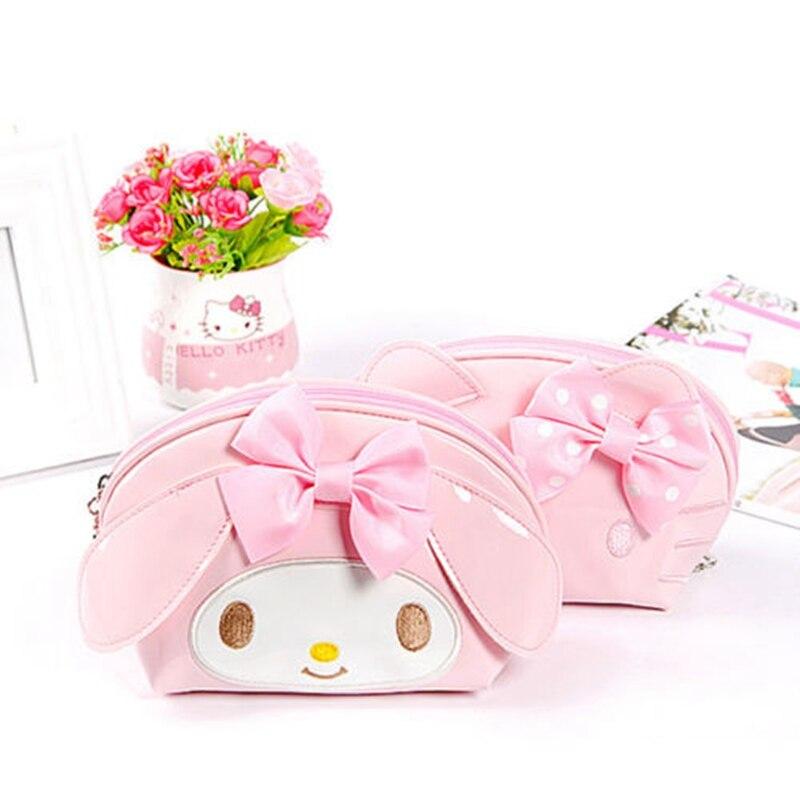 Мультфильм рисунок «Hello Kitty» косметичка Для женщин путешествия искусственная кожа молния Макияж сумка-Органайзер составляют чехол для хранения несессер