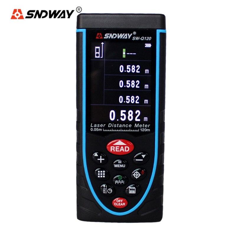 SNDWAY 80M 120M Original Digital Rangefinder Laser Distance Meter Range Finder SW-Q80 SW-Q120 Tape Trena Ruler Angle Tool