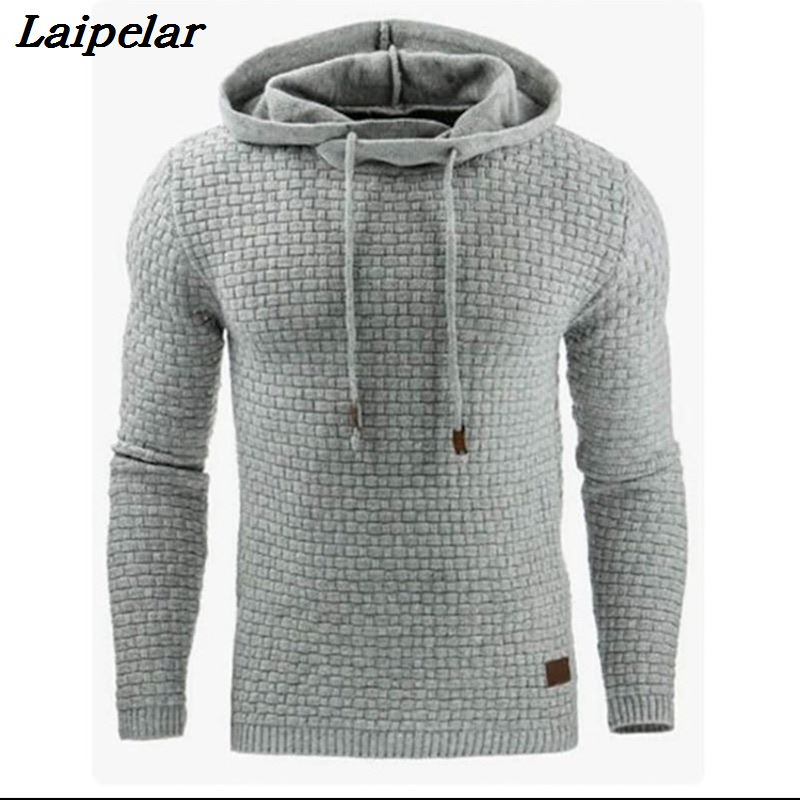 Sweater Men  Brand Male Long Sleeve Solid Color Hooded  Mens Sweater Tracksuit Sweat Coat Casual Sportswear Laipelar