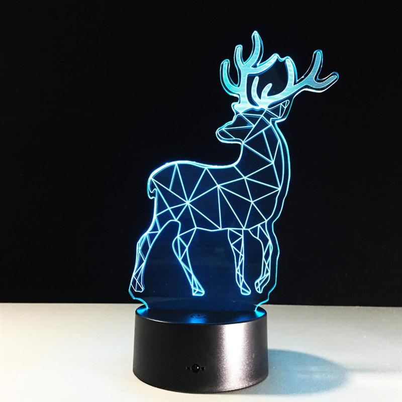 product Animal Deer 3D LED Deside Night Light USB Remote Control Touch Switch Tabel Desk Lamp Best Gift For Child Kid