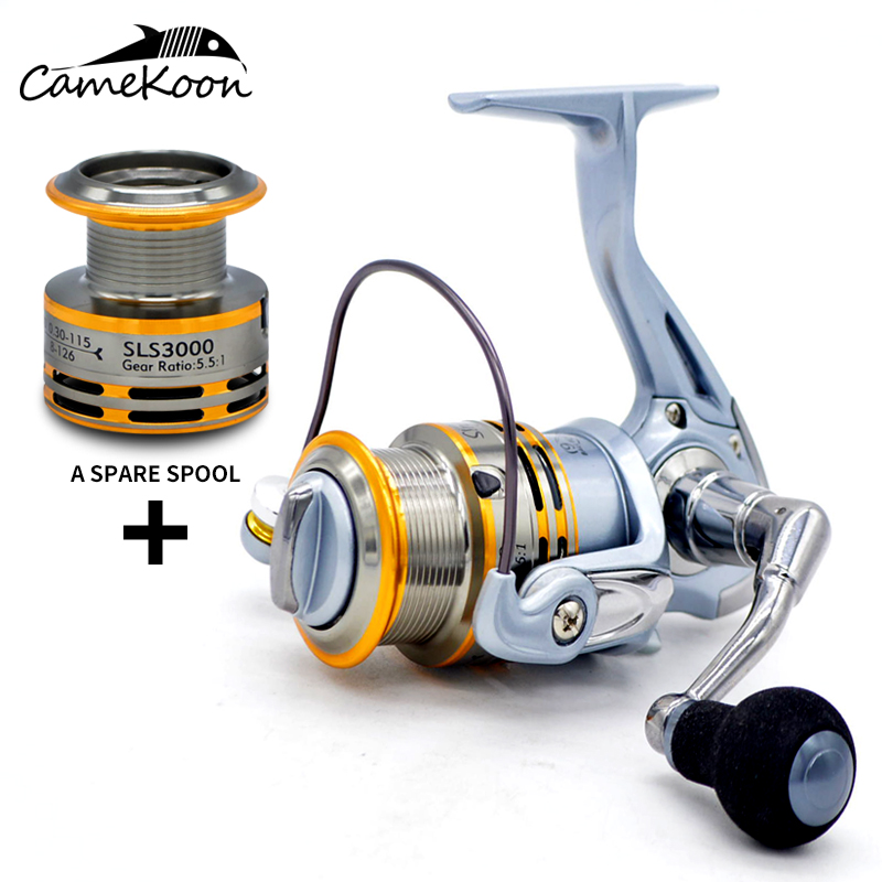 CAMEKOON Fishing-Reel Spinning Aluminum Spool 1-Ball-Bearings 9  title=