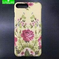 LoveCase kılıf iPhone Için 7/7 Artı 7 Artı kılıf Moda deri Kurutulmuş çiçekler telefon arka kapak kılıf arılar çiçek kılıf telefonu kapak