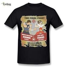 Casual Man Hokuto no Ken VS Saint Seiya Legend of Sanctuary T Shirt Funny Stylish T-shirt model fans in stock saint seiya cloth myth lc ex 2 0 gold saint legend of sanctuary cg color gemini saga free shipping