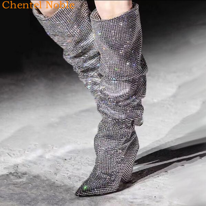 Femmes Cristal Bout as Cheville Marque Noir As Grande Démissionner Talons Pistes Taille Pointu Picture Mujer Hauts Bottes Date De 2018 Picture Zapatos Luxe drCxeoWB