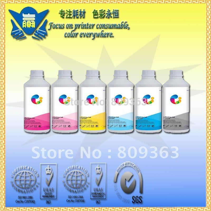 (6liters/lot) 6x1000ml Sublimation <font><b>ink</b></font> for <font><b>EPSON</b></font> Stylus Photo <font><b>R270</b></font>/R390/RX590/R290/1410/RX610 image