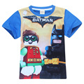 2017 Lego Фильм Бэтмен мальчики футболка хлопок дети футболки одежда мода лето футболка детская одежда топ ти