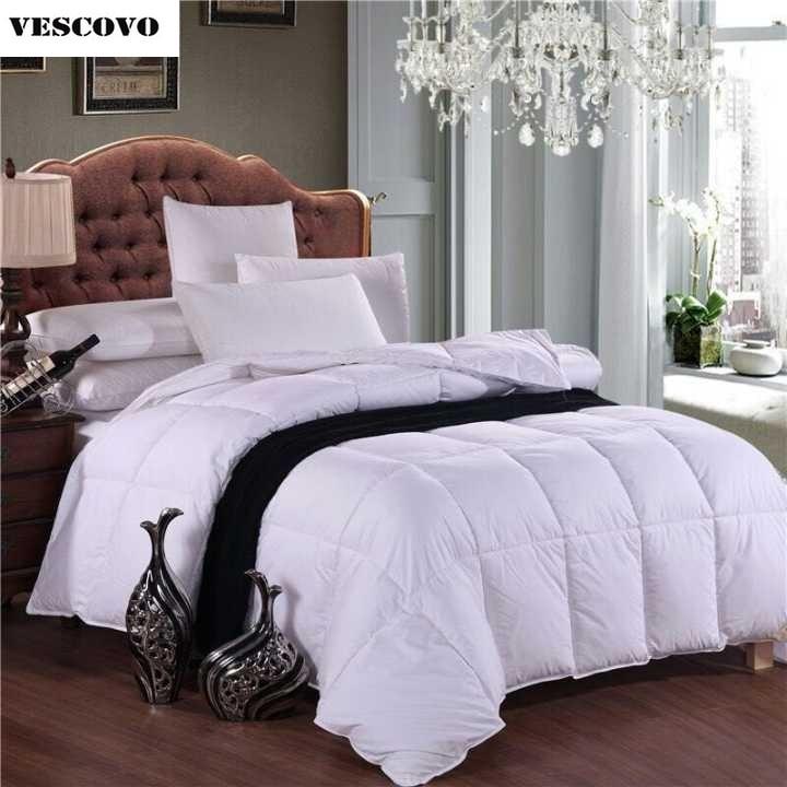 original 100 goose down comforter feather quilt goose down king size duvet insert queen winter. Black Bedroom Furniture Sets. Home Design Ideas