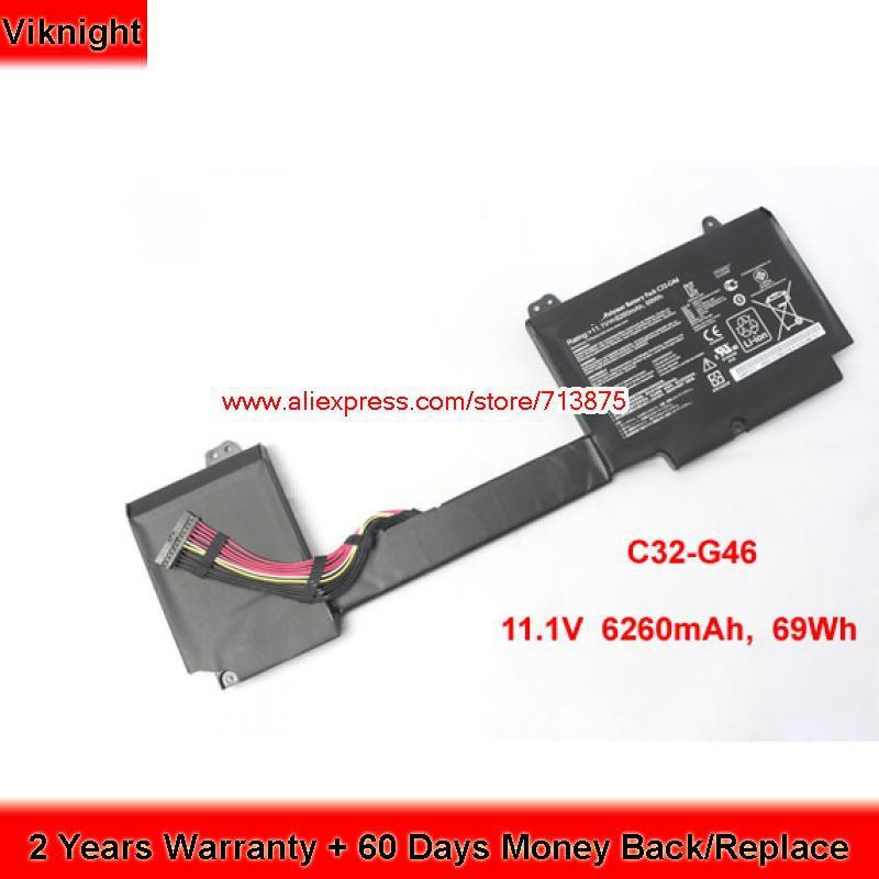 Genuine C32-G46 Battery For ASUS G46 G46V G46VW G46E G46EI363VM G46EI361VW 11.1V 69Wh kingsener new c32 g46 laptop battery for asus rog g46 g46v g46vw series notebook 11 1v 6260mah 69wh free 2 years warranty