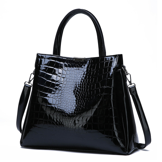 Crocodile Pattern Two-Piece Composite Bag Ladies Handbag New Fashion High Quality Casual Wild Shoulder Messenger Bag