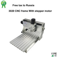 No Need Tax Only Russia 3020 CNC Frame Of Cnc Router Machine With Stepper Motor