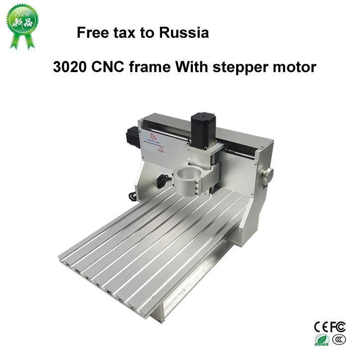 No need tax,only Russia,3020 CNC frame of cnc router Machine With stepper motor