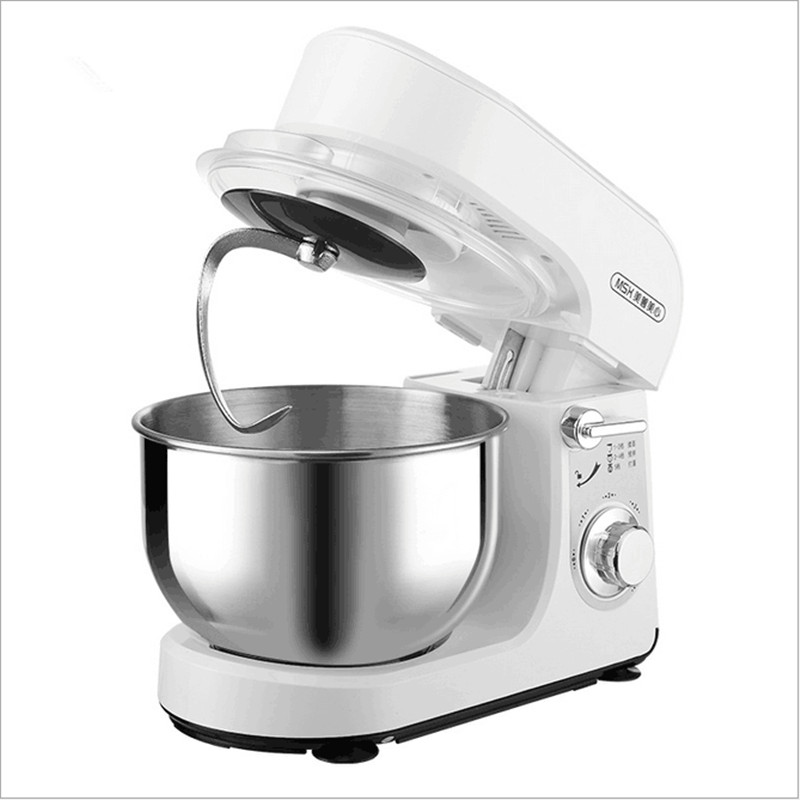 220V Multifunctional Dough Mixer 3.5L Automatic Stainless Steel Kneading Machine Egg Beater Food Blender 5 Gear Stand Mixer fast food leisure fast food equipment stainless steel gas fryer 3l spanish churro maker machine