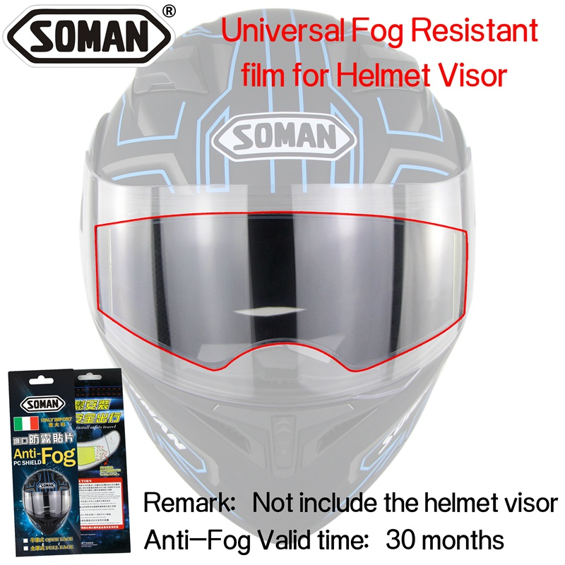 Greyghost Motorcycle Clear Visor Lens Stickers Anti-Fog Film Visor Shield Goggles Sticker For K1/&K5/&K3SV