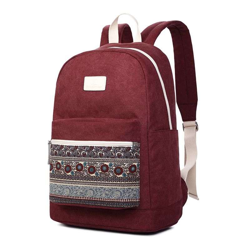 Canvas Backpack Laptop Travel Vintage Women Casual for Stylish 2-Size 13-Inch Bag Brand-New
