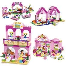 SLPF Children Educational Toys Plastic DIY Variety Building Blocks Insert City Building Assembled Model Kit Girl Gift LegoingE08 цены