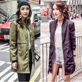 2016 Trendy Women Winter Long Baseball Bomber Trench  Zipper Casual thickening Coat Autumn Woman Coat