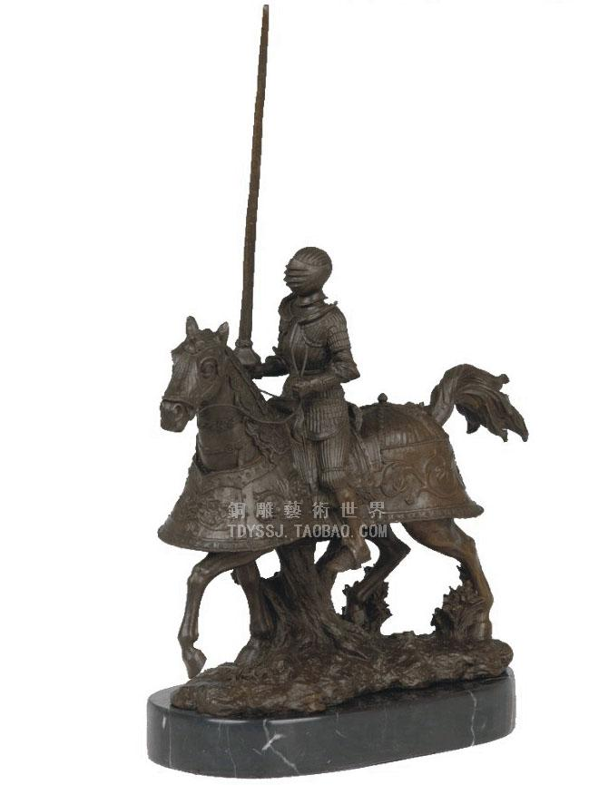 armor of medieval European classical style sculpture bronze crafts Home Furnishing jewelry ornaments