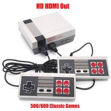 Retro TV Video Game Console Mini Handheld Game Player Double Joysticks Classic 8 Bit Gaming Players with Bulit-in 600/500 Games