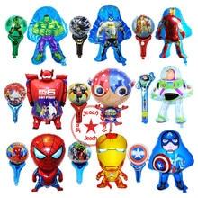 ФОТО batman spiderman balloon avengers party supplies superhero balloons superman baby super big hero birthday avengers balloons