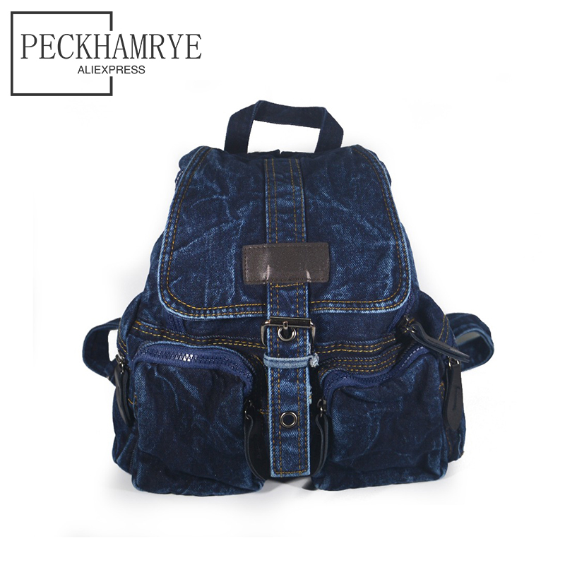 2018 new fashion denim backpack for teens Girl canvas backpack Women Backpacks Denim Children Kids Bag Backpack jeans bag